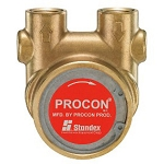 Procon 114B165F11AA250 1/2 inch Port Clamp-on 250 PSI 165 GPH NSF Brass Pump