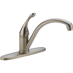 Delta 140-SSWE-DST Collins Single Handle Water-Efficient Kitchen Faucet Stainless Finish