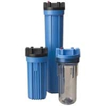 "Pentek 150001 10"" Blue/Black Filter Housing with 3/4"" Caps without PR"