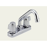 Delta 2133 Classic Two Handle Laundry Faucet Chrome Finish