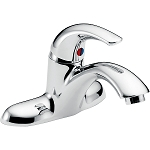 Delta 22C101 22T Single Handle Centerset Lavatory Faucet - Less Pop-Up Chrome Finish
