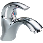 Delta 22C601 22T Single Handle Single Hole Lavatory Faucet - Less Pop-Up Chrome Finish