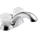 Delta 2522LF-MPU Classic Two Handle Centerset Lavatory Faucet Chrome Finish
