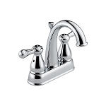 Delta  2575 Leland  Two Handle Centerset Lavatory Faucet  Chrome Finish
