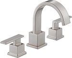 Delta 3553LF-SS Vero Two Handle Widespread Lavatory Faucet Stainless Finish