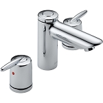Delta 3585LF-MPU Grail Two Handle Widespread Lavatory Faucet Chrome Finish