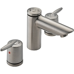 Delta 3585LF-SSMPU Grail Two Handle Widespread Lavatory Faucet Stainless Finish