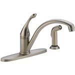 Delta 440-SSWE-DST Collins Single Handle Water-Efficient Kitchen Faucet with Spray Stainless Finish