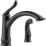 Delta 4453-RB-DST Linden Single Handle Kitchen Faucet with Spray Venetian Bronze Finish