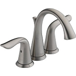Delta 4538-SS Lahara Two Handle Mini-Widespread Lavatory Faucet Stainless Finish
