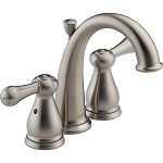 Delta 4575-SS Leland Two Handle Mini-Widespread Lavatory Faucet Stainless Finish