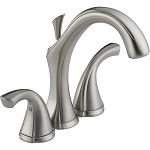 Delta 4592-SS Addison Two Handle Mini-Widespread Lavatory Faucet Stainless Finish