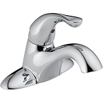 Delta 500-DST Classic Single Handle Centerset Lavatory Faucet - Less Pop-Up Chrome Finish