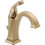 Delta 551-CZ-DST Dryden Single Handle Centerset Lavatory Faucet Champagne Bronze Finish
