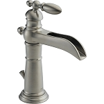 Delta 554LF-SS Victorian Single Handle Centerset Lavatory Faucet Stainless Finish