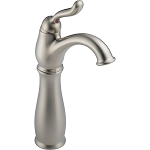 Delta 579-SS-DST Leland Single Handle Centerset Lavatory Faucet with Riser - Less Pop-Up Stainless Finish