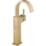 Delta 753LF-CZ Vero Single Handle Centerset Lavatory Faucet with Riser - Less Pop-Up Champagne Bronze Finish