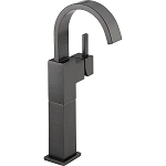 Delta 753LF-RB Vero Single Handle Centerset Lavatory Faucet with Riser - Less Pop-Up Venetian Bronze Finish