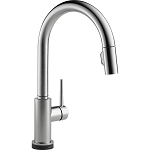 Delta 9159T-AR-DST Trinsic Single Handle Pull-Down Kitchen Faucet Featuring Touch2O(R) Technology Arctic Stainless Finish