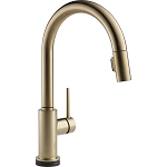 Delta 9159T-CZ-DST Trinsic Single Handle Pull-Down Kitchen Faucet Featuring Touch2O(R) Technology Champagne Bronze Finish