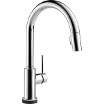 Delta 9159T-DST Trinsic Single Handle Pull-Down Kitchen Faucet Featuring Touch2O(R) Technology Chrome Finish