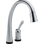 Delta 980T-DST Pilar Single Handle Pull-Down Kitchen Faucet with Touch2O Technology Chrome Finish