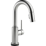 Delta 9959T-AR-DST Trinsic Single Handle Pull-Down Bar-Prep Faucet Featuring Touch2O(R) Technology Arctic Stainless Finish
