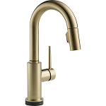 Delta 9959T-CZ-DST Trinsic Single Handle Pull-Down Bar-Prep Faucet Featuring Touch2O(R) Technology Champagne Bronze Finish