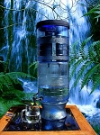Berkey Light 2.75 Gal Water Purifier with Blue LED Lights & four Elements