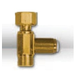 DV-TQC Brass Angle Stop Adaptor T - 3/8 inch Comp � 3/8 inch Comp Swivel � 1/4 inch Quick Connect