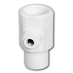FT-05-P-14QC Polypropylene Faucet Adaptor 1/2 inch � 1/2 inch x 1/4 inch CCK Quick Connect Built-in