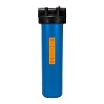 Kemflo FW10000BL1PR Heavy Duty Blue Filter Housing for Full Flow/BB 20 inch � 4 1/2 inch Cartridge with 1 inch Port and Pressure Release