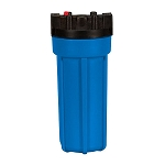 Kemflo FW4500BL34PR Heavy Duty Blue Filter Housing for 10 inch x 2 1/2 inch Cartridge with 3/4 inch Port and Pressure Release