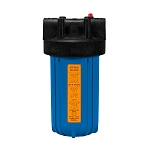 Kemflo FW5000BL15PR Heavy Duty Blue Filter Housing for Full Flow/BB 10 inch � 4 1/2 inch Cartridge with 1 1/2 inch Port and Pressure Release