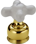 Delta H27PB Neostyle Two Porcelain Cross Handle Kit Polished Brass Finish