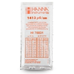 Hanna HI70031P 1413 µS/CM 20 ML 25 Pack Conductivity Calibration Solution