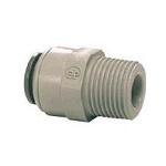 John Guest PI011224S 3/8 inch x 1/2 inch Gray Acetal Male Connectors NPTF Straight Adaptor