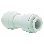 John Guest PP0408W 1/4 inch White Polypropylene Union Equal Straight Connector