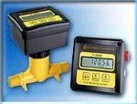 Blue-White RTS3-20K8-LM1 100-1000 LPM Totalizer 230V 2 Saddle F-2000 Digital Inline Flowmeter