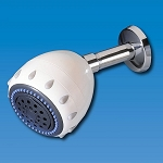 H2O International SH-WH-5 Deluxe Shower Filter 5 Spray White with KDF