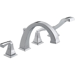 Delta T4751 Dryden Roman Tub with Handshower Trim Chrome Finish