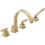 Delta T4753-CZ Vero Roman Tub With Handshower Trim Champagne Bronze Finish