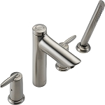 Delta T4785-SS Grail Roman Tub with Handshower Trim Stainless Finish