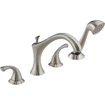 Delta T4792-SS Addison Roman Tub with Handshower Trim Stainless Finish