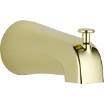 Delta U1075-PB-PK Universal Showering Components Diverter Tub Spout Polished Brass Finish