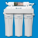 Rioflow USRO5-60-QC-BP 5 Stage Reverse Osmosis System with 60 GPD TFC Membrane Booster Pump and CCK Quick-Connect Fitting