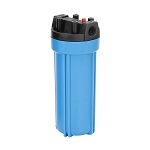 YT-10BL-6PR Heavy Duty Blue Filter Housing for 10 inch x 2 1/2 inch Cartridge with 3/4 inch Port and Pressure Release