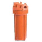 YT-10RR-6 High Temperature Red Filter Housing for 10 inch x 2 1/2 inch Cartridge with 3/4 inch Port and Pressure Release