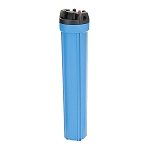 YT-20BL-6PR Heavy Duty Blue Filter Housing for 20 inch x 2 1/2 inch Cartridge with 3/4 inch Port and Pressure Release