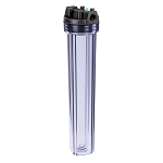 YT-20CB-6PR Heavy Duty Clear Filter Housing for 20 inch x 2 1/2 inch Cartridge with 3/4 inch Port and Pressure Release